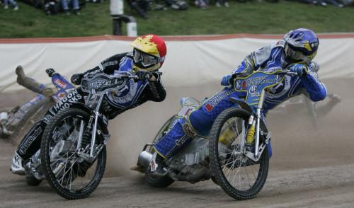 Lee Richardson som tragiskt omkom i en speedwayolycka 2012. Körde under måga år för Vetlanda och var alltid lika trevlig. Här i par med Peter Ljung säsongen 2008.